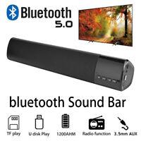 Wireless Bluetooth 5.0 Portable Speaker Stereo Subwoofer Soundbar TV Computer PC