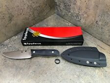 Spyderco Serrata Fixed Blade Knife FB32GP Cast 440C Steel Blade Full Flat Grind