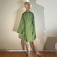 Little Birdy Studios - Handmade 100% Silk Slip On Summer Blouse / Shirt Dress M!