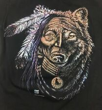 Vintage Tee Shirt Size Large Indian and Bear Stand out Designs San Diego