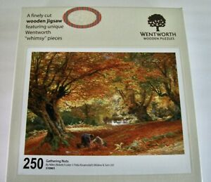 """Wentworth Wooden Fall Themed Jigsaw Puzzle """"Gathering Nuts"""" 250 Pieces"""