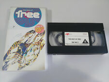 FREE THE BEST OF FREE 1989 - 50 MIN PAUL RODGERS KOSSOFF - VHS CINTA TAPE