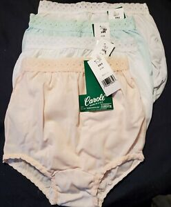 4 Pair KIDS Pastel Colors EMBOSSOLON Nylon Pantie Size 14 fits Ladies size 4 / 5