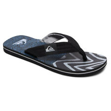 Quiksilver Molokai Layback Flip Flops - Black / Blue / Grey