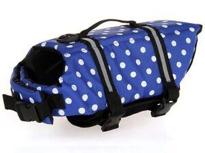 Dog Life Jacket Vest Saver Safe Swimsuit Preserver Reflective Stripes - Large