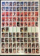 1992-93 Hoops Card Michael Jordan USA Factory Uncut Sheet Test Proof Rare!