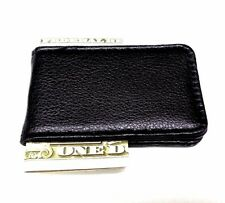 Black Money Clip Leatherette Magnetic Cash Credit Card  Wallet Clipper