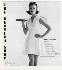 1963 The Bermuda Shop Vintage Womens Tennis Clothes PRINT AD