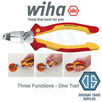 WIHA 38552 Installation Pliers TriCut Cable Cutter Stripper Electric 1000V VDE