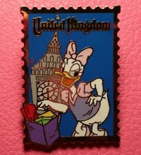 DISNEY PIN - DAISY DUCK Country Stamp United Kingdom 12 Months of Magic