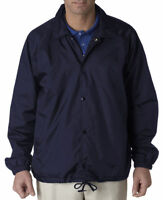 UltraClub Men's Nylon Coaches Plain Jacket 8944