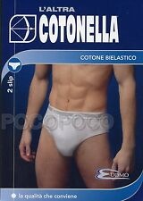 6 Slip Uomo Cotonella Art.2383 III Nero