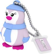 CLE USB 8GO EMTEC MISS PINGOUIN / clef flash drive 8gb 8 go mademoiselle penguin