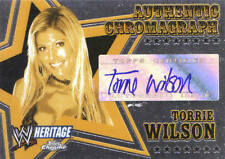 TORRIE WILSON 2006 Topps Heritage Chrome WWE AUTOGRAPH AUTO CARD