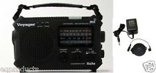 New Solar NOAA Weather Alert AM/FM/SW Radio + SW Ant & AC Adapter! Free Ship!