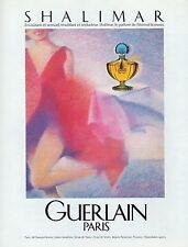 GUERLAIN PUBLICITE    AD 1984  * 4G