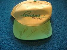 VERY RARE SIGNED MARIO, MICHAEL & JOHN ANDRETTI - ANDRETTI RACING BASEBALL CAP