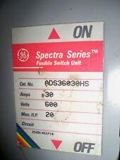 GE ADS36030HS 30A 600V 3PH FUSIBLE SWITCH UNIT