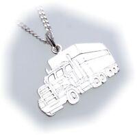 Anhänger LKW Sattelzug in echt Silber 925 Kenwoorth Sterlingsilber Unisex Truck
