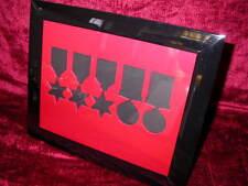 WW2 Medal Frame-Three WW2 Stars Defence & War Medals