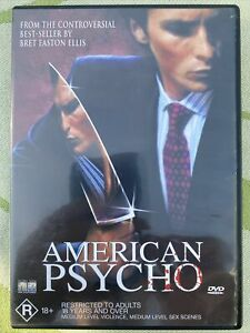 American Psycho DVD Movie. Free Postage. Rated R 18+. Hard To Find (rare)