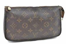 Authentic Louis Vuitton Monogram Pochette Accessoires Pouch M51980 LV A3955
