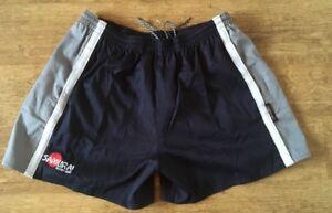 Samurai Tri Colour Match Rugby Shorts 26 WAIST  Navy Grey White Sevens Union