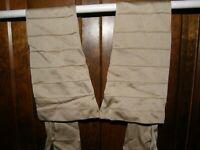 3398) Vntg Van Raalte Beige Long Opera Gloves Pure Silk Buttons At Wrists Unused
