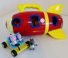 Peppa Pig Nave Espacial Cohete, Moon Buggy y 3 figuras de espacio