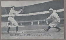 1907 Wolverine News Schaefer & O'Leary Detroit Tigers Postcard Double Play