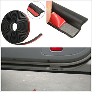 "4M 160"" Black Waterproof Car Z-Shape Window Door Rubber Seal Weather Strip Decal"