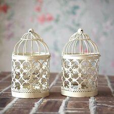 Lanterna Porta candela Candeline Forma Gabbia Metallo Laser Addobbo Matrimonio