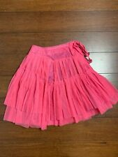 Lola et Moi Skirt Size 6/7 Pink Outer Layer Purple Fully Lined Under Zip Back