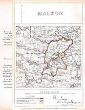 Malton.1868.Map.Boundary Commissioners report.Antique.North Yorkshire