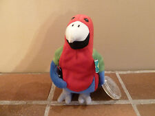 Coca-Cola 1998 Beanie Plush BARROT THE PARROT -BRAZIL Soft Toy-Rare Vintage