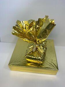 "Metallic Gold Wrapping Paper -18""x 18"" 18 sheets shiny Wrap"