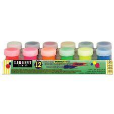 Sargent Art Washable Paints 12 Regular and Fluorescent Colors  - 12-Color Set: