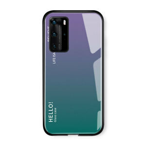 Back Cover Phone Case Tempered Glass for Huawei Mate20 30 40 Pro P20/30 Pro Lite