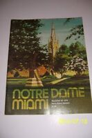1976 MIAMI Hurracanes vs NOTRE DAME Fighting Irish FOOTBALL Program 11/20/76