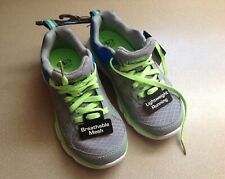 New Little Boys Breathable Mesh Lightweight Running Shoes Gray/Blue/Lime Size 6
