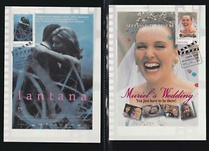 AUSTRALIA 2008 4 FIRST DAY COVERS POSTERS FROM POPULAR FILMS ON MAXI CARDS