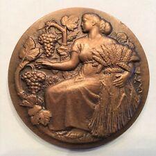 Art Nouveau/Deco Medal, Agriculture, by H.M. Petit