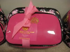 MACBETH COLLECTION MAKEUP BAG DUO SET * DANIELLE Creations * BLACK & PINK * NWT