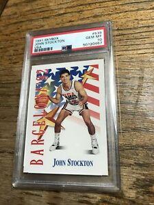 1991 SKYBOX JOHN STOCKTON USA BARCELONA '92 OLYMPICS DREAM TEAM PSA 10 #539 🏀🥇