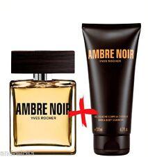 YVES ROCHER Ambre noir Eau de toilette & Perfumed Shower gel for Men SET Z071