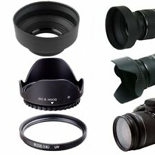 58MM Lens Hoods & UV Filter Lens Protector Kit for Canon Rebel T6i T6 T5i T5 SL1