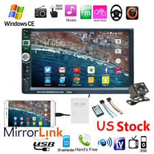 """7"""" HD Double 2 DIN Car Radio Stereo MP5 Player Touch Screen USB BT+Camera"""