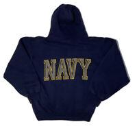 US Navy Hoodie Sweatshirt SOFFE 50 Poly 50 Cotton Size Small PT Hood Vintage USA