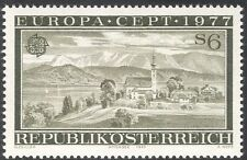 Austria 1977 Europa/Attersee/Lake/Church/Bell Tower/Clock/Buildings 1v (n43055)