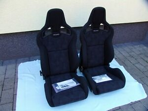 RECARO SPORTSTER CS NARDO ARTISTA SEATS, PAIR, BRAND NEW 410.00.1351 and 2351